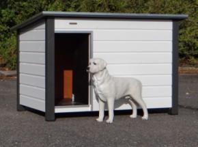 Hundehütte Loebas weiss/grau, isoliert