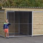 Hundezwinger Forz 3 x 2 m. mit isoliertem Schlafhaus. Schöne Qualität!