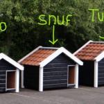 Reno, Snuf und Turbo, Serie Hundehütte mit Dachziegeln