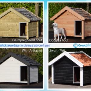 Hundehütte Reno in verschiedenen Farben