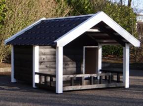 Hundehütte Snuf mit Veranda 188x223x144cm