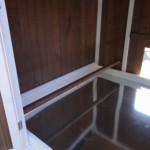 Sitzstangen im Schlafhaus des Hühnerstalls