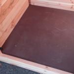 Boden des Schützhauses aus Sperrholz von 12 mm
