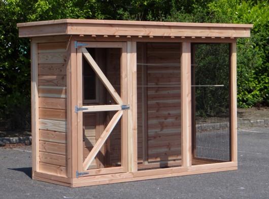 Vogelvoliere 3.1 mit Schleuse und Schutzhaus
