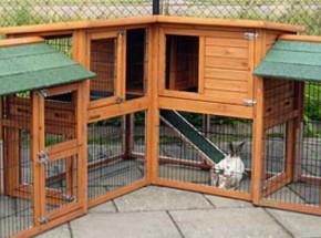 Plexiglas Isolierset für Kaninchenstall Maurice mit 2 zusätzlichen Außenbereichen