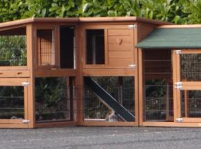 Plexiglas Isolierset für Kaninchenstall Maurice mit 1 Auslauf