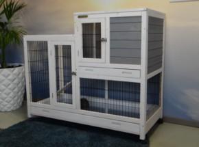 Kaninchenkäfig Esmee White-Grey
