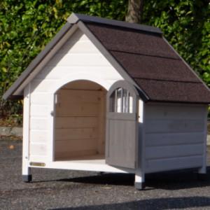 Hundehütte Private 3, eine geöffnete Tür für Ihren Hund