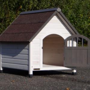 Hundehütte Private 3 ist sehr geëignet für kleinere Hunde sowie einen Beagle