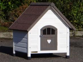 Hundehütte Private 1, eine schöne Hundehütte für einen kleinen Hund, z.B. Cavalier King Charles Spaniel