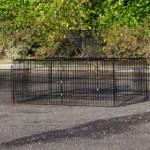 Kaninchenauslauf Maik | Schwarzes Gitterkäfig | Geräumige Öffnungen
