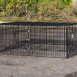 Kaninchenauslauf Maik aus schwarzem Gitter