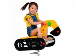 Federwippe Bagger für Ihr kinder