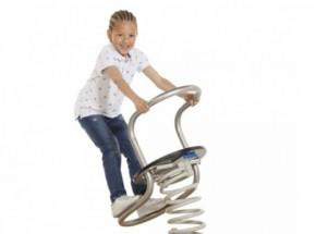 Modernes Edelstahl Federwippe für Ihr Kinder!