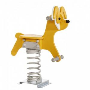 Federwippe Hund mit Fussplatte und Feder Fairytale