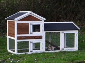 Kaninchenstall Artièn mit Auslauf