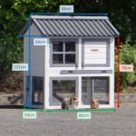 Kaninchenstall Nice mit Kunststoff-Dach und Isolierset