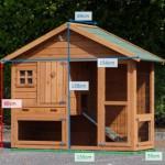 Kaninchenstall Holiday Small Mit Isolierset und Nageschutz 154x69x128cm
