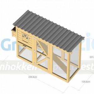 Hühnerstall Flex 3.1 mit Legenest 310x115x200cm