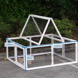 Kaninchen-Freilaufgehege Multirun White mit Nagerschutz