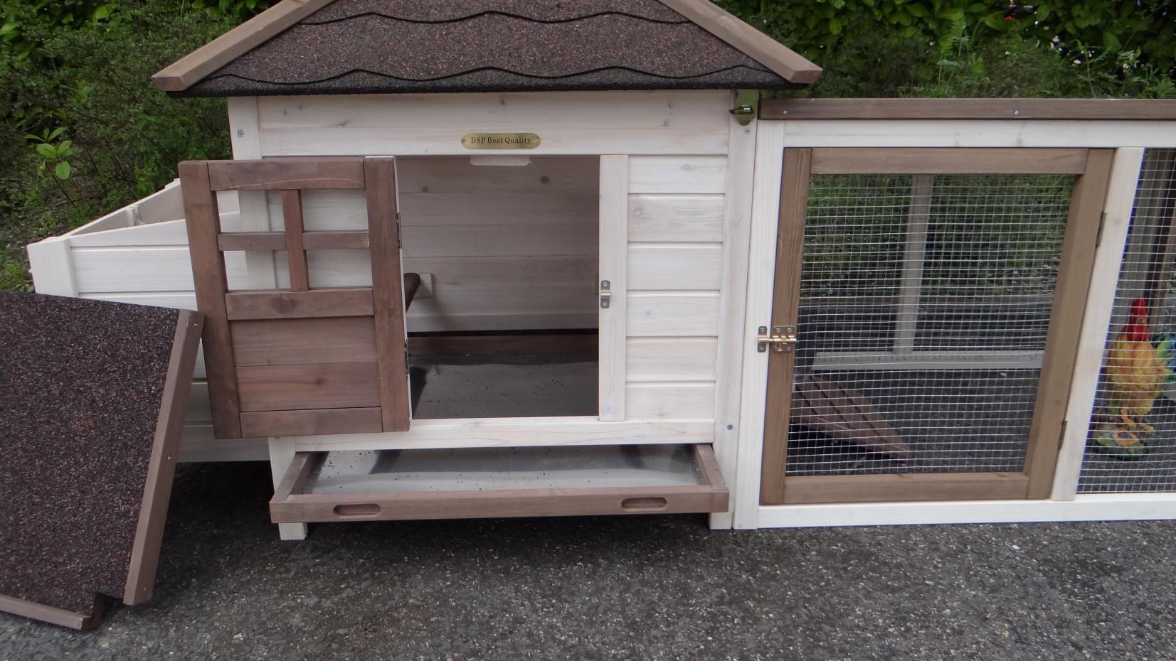 h hnerstall ambiance small und auslauf mit dachpappe. Black Bedroom Furniture Sets. Home Design Ideas