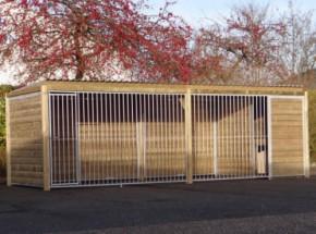 Hundezwinger Forz 2x6 mit Hundehütte und Plattform