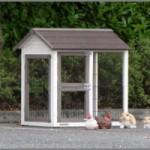Anbau-Auslauf für kaninchenstall