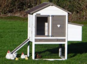 Hühnerställe Prestige Small White mit Legenest