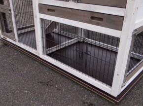 Bodenplatte für Kaninchenstall Double Small mit 1 Auslauf