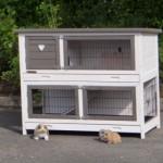 Preiswerter Kaninchenstall mit Schublade