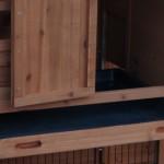 Hühnerstall mit Kunststof Schublade