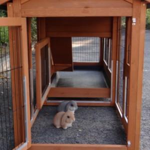 anbau-auslauf für kleintiere