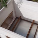 Schlafhaus des Hühnerstalls
