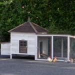 hühnerstall ambiance large und auslauf mit dachpappe