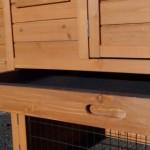 kaninchenstall mit praktische Schublade