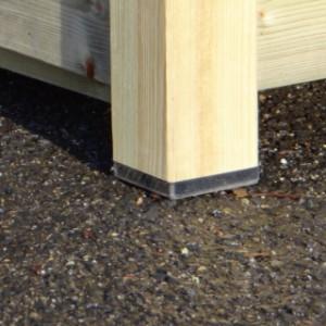 Hundehütte aus Holz Reno mit Kunststoff Füsse