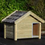 Hundehütte aus Holz Reno mit Dachziegeln