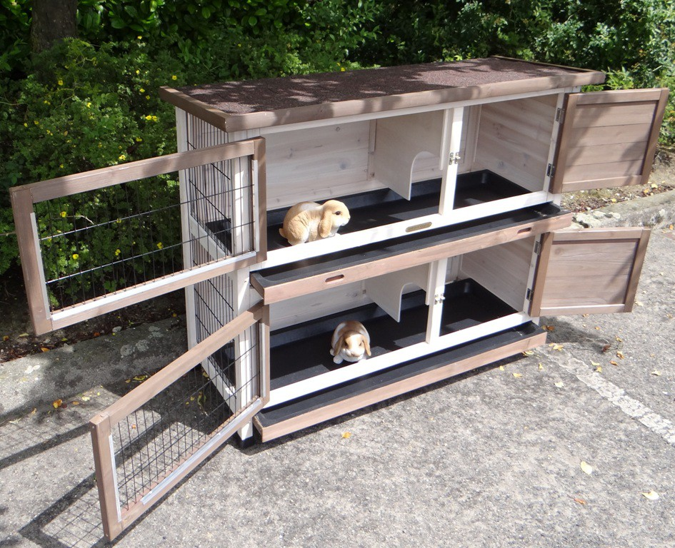 kaninchenstall ann 127x53x105cm. Black Bedroom Furniture Sets. Home Design Ideas