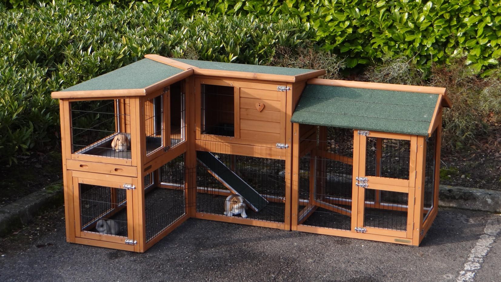 hasenstall mit gro en auslauf von animalhouseshop. Black Bedroom Furniture Sets. Home Design Ideas