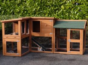 Kaninchenstall Maurice mit Auslauf rechts