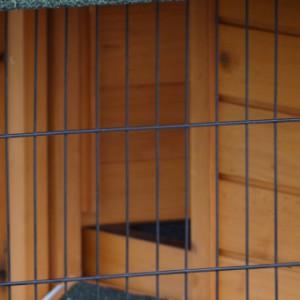 Öffnung schlafteil kaninchenstall