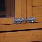 Hühnerstall Türen mit Doppelschlössern