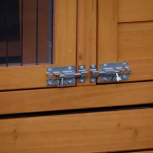 Türen Kaninchenstall mit doppelschlössern