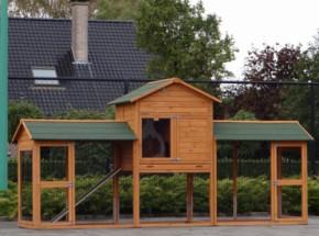 Hühnerstall Prestige Large Doppel 362x100x181cm