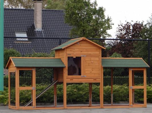 Kaninchenstall Prestige Large Doppel mit Nagerschutz 362x100x181cm
