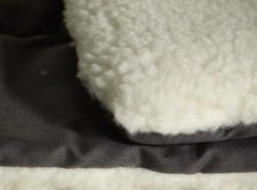Liegekissen doppelseitig grau-beige 75x47cm