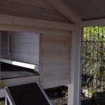 Schlafhaus Öffnung des Hühnerstalls