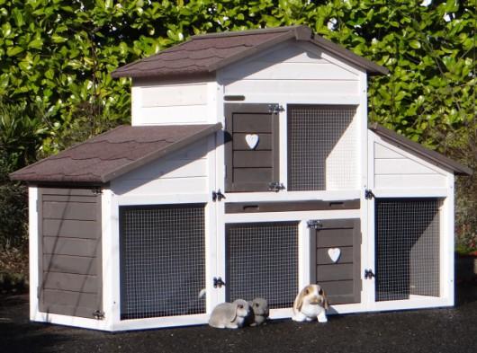 Kaninchenstall Annemieke mit Auslauf