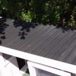 Kaninchenstall mit kunststof dach