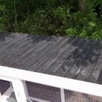 Hühnerstall mit kunststoff dach